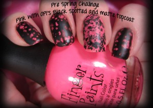 And just for the heck of it, since I had already messed with this mani so much....I added a matte top coat to see how that would look.