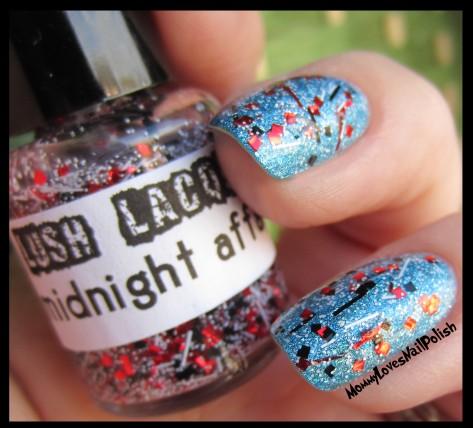 """Midnight Affair"" over powder blue base color."