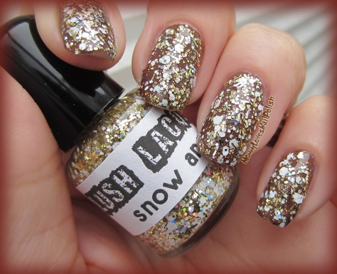 """Snow Angel"" over chocolate brown base color."